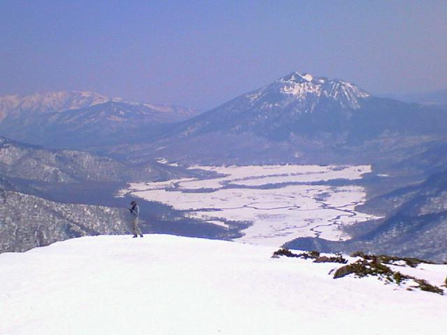 至仏山を滑る!